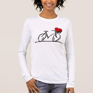 Camiseta Manga Longa Eu amo minha bicicleta