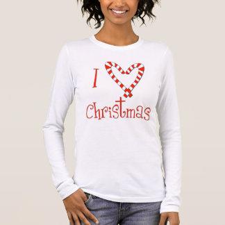 Camiseta Manga Longa Eu amo o Natal