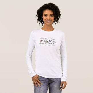 Camiseta Manga Longa Eu posso fazer que - t-shirt do T do