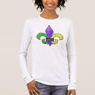 Camiseta Manga Longa Flor de lis do mosaico