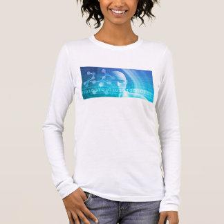 Camiseta Manga Longa Fundo da molécula como um conceito do abstrato da
