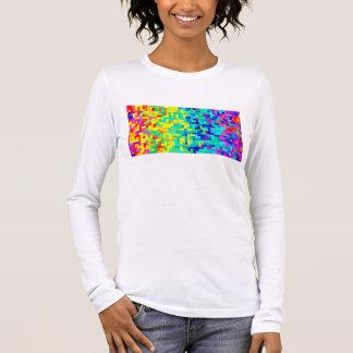 Camiseta Manga Longa Fundo sem emenda do teste padrão do pixel como um