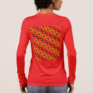 Camiseta Manga Longa Girassóis