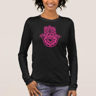 Camiseta Manga Longa Hamsa - mão as Fatima protecção símbolo -