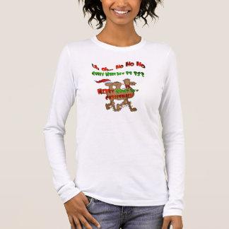 Camiseta Manga Longa Ho Ho Ho Natal do dia de corcunda