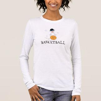 Camiseta Manga Longa Jogador de basquetebol do boneco de neve