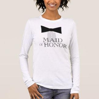 Camiseta Manga Longa Laço da madrinha de casamento