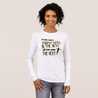Camiseta Manga Longa Lance de disco com a luva longa das Melhores