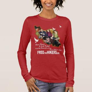 Camiseta Manga Longa Livre todos os três caminhantes