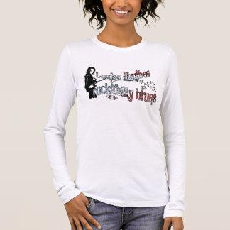 "Camiseta Manga Longa Louise Hughes ""azuis Rockabilly """