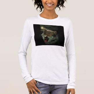 Camiseta Manga Longa Lua do lobo