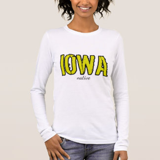 "Camiseta Manga Longa Luva longa - impressão nativo de ""Iowa"""