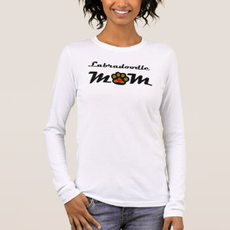 Camiseta Manga Longa Mamã de Labradoodle