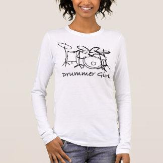 Camiseta Manga Longa Menina do baterista