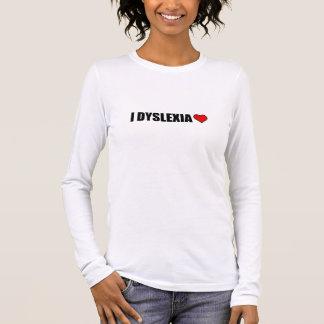 Camiseta Manga Longa Mim coração do amor da dislexia