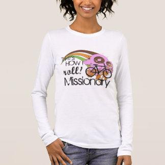 Camiseta Manga Longa Missionário como eu rolo o rosa