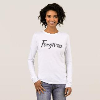 Camiseta Manga Longa Mulheres perdoadas o t-shirt longo da luva das