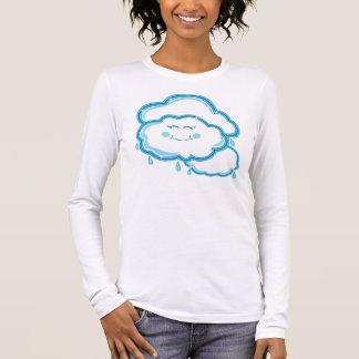 Camiseta Manga Longa Na maior parte nebuloso