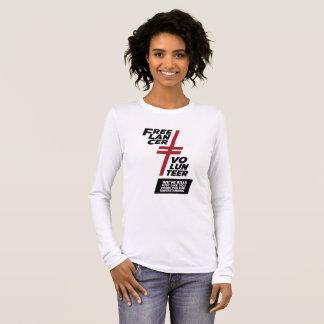 Camiseta Manga Longa Não um voluntário