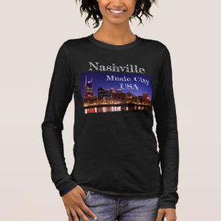 Camiseta Manga Longa Nashville -- Cidade EUA da música - T