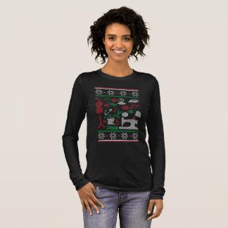 Camiseta Manga Longa Natal Sewing