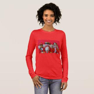 Camiseta Manga Longa Nutcrackers em uniformes vermelhos