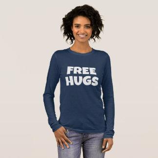 Camiseta Manga Longa O Bella das mulheres livres dos abraços+Tshirt