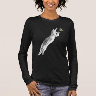 Camiseta Manga Longa O gato e o vaga-lume