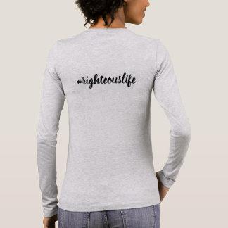 Camiseta Manga Longa O t-shirt longo da luva fala para você!