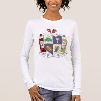 Camiseta Manga Longa O t-shirt Sleeved longo das mulheres