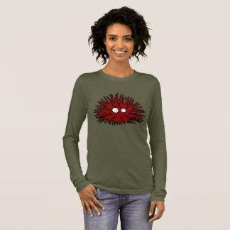 Camiseta Manga Longa Oceano vermelho uni espinhoso do ouriço do