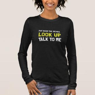 Camiseta Manga Longa Olhe acima