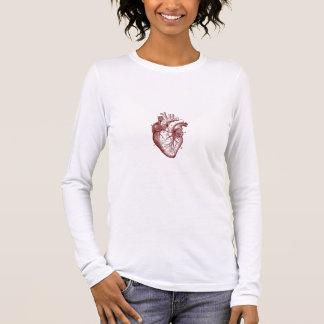 Camiseta Manga Longa Onde o coração está (o vermelho)