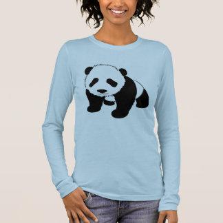 Camiseta Manga Longa Panda bonito do bebê