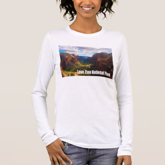 Camiseta Manga Longa Parque nacional de Zion do amor