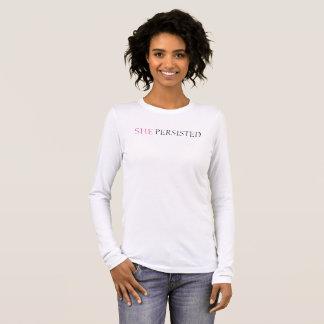 Camiseta Manga Longa Persistiu t-shirt da longo-luva