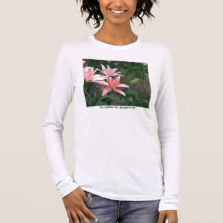 Camiseta Manga Longa pique lilly, mim preferencialmente estaria