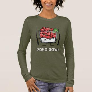 Camiseta Manga Longa Pique o aku dos chopsticks da salada dos peixes