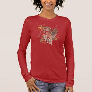 Camiseta Manga Longa Placa Throated 47 de Audubon do colibri do rubi