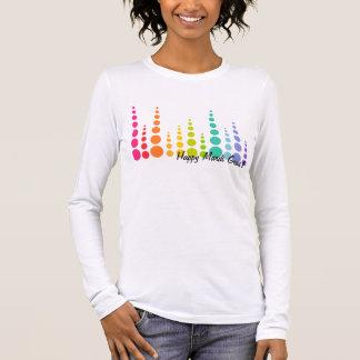 Camiseta Manga Longa Pontos da bolha do arco-íris