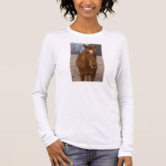 Camiseta Manga Longa Pose do cavalo
