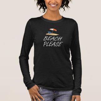 Camiseta Manga Longa Praia por favor
