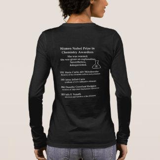 Camiseta Manga Longa Prémio nobel das mulheres na química
