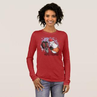 Camiseta Manga Longa Presunto e Natal leitão
