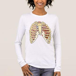 Camiseta Manga Longa Pulmões & coração da caixa torácica