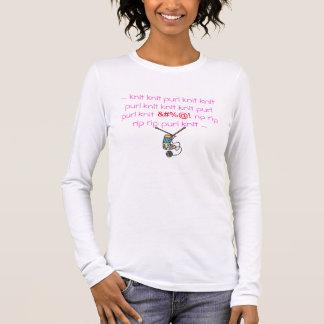 Camiseta Manga Longa Purl da malha da malha