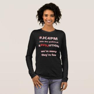 Camiseta Manga Longa revolução política de #JC4PM