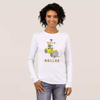 Camiseta Manga Longa Rolo santamente (luva longa das mulheres)