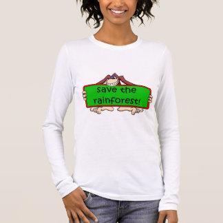 Camiseta Manga Longa salvar a floresta húmida