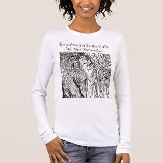Camiseta Manga Longa selvagem-womyn, resolução para tomar o destino